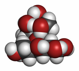Lactitol sweetener and laxative molecule.