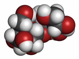 Maltitol sugar alcohol sweetener molecule.