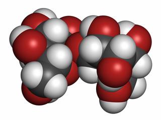 Trehalose (mycose, tremalose) sugar molecule.