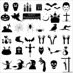 36 halloween icons