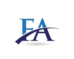 FA Logo Letter Swoosh