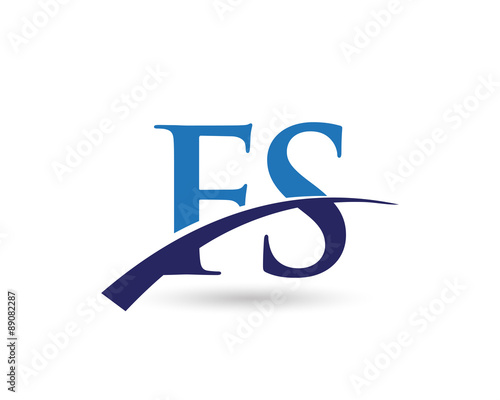quotfs logo letter swooshquot stock image and royaltyfree