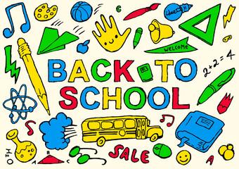 Back to school hand drawn vector illustration