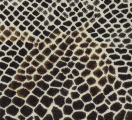 dark brown textile texture as snake skin imitation