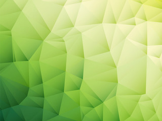 abstract triangular yellow white green bio background