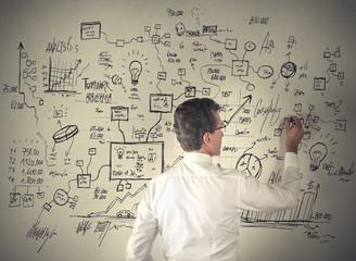 Man doing a businessplan