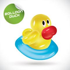 Glossy Balloon Duck Illustration