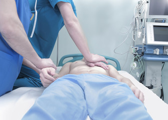 Patient cardiopulmonary resuscitation in the hospital