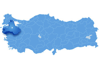 Map of Turkey, Balikesir