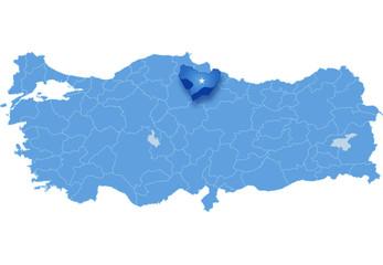 Map of Turkey, Amasya