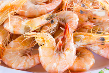 fresh delicious shrimp