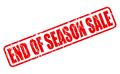 End of season sale red stamp text