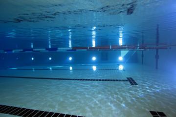 Indoor swimming pool underwater