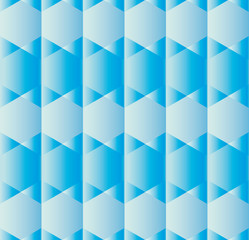 Abstract background with hexagons in various shades of blue