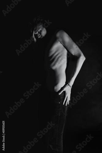 Male slender nude