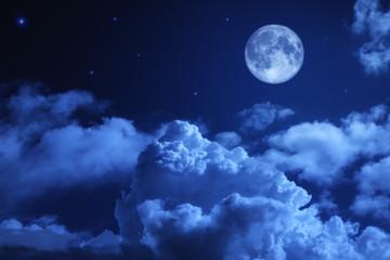 Printed kitchen splashbacks Night Tragic night sky with a full moon