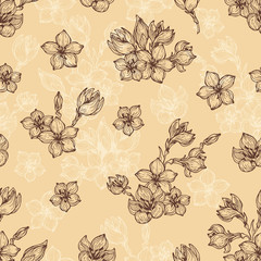 Decorative flowers pattern