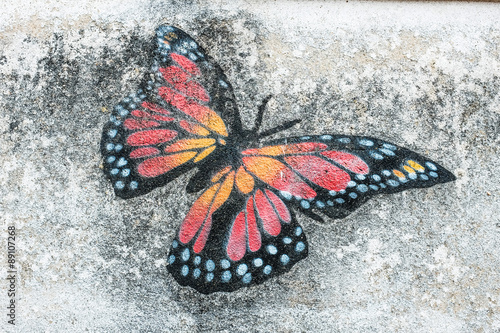 papillon aile dessin peinture mur photo libre de droits sur la banque d 39 images. Black Bedroom Furniture Sets. Home Design Ideas