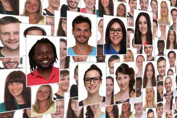 Hintergrund Collage junge Leute Jugendliche Gruppe