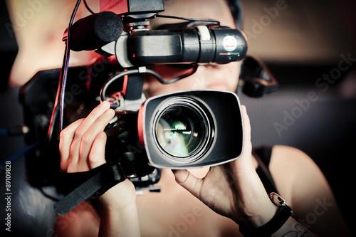 Camera Film Audiovisuel Cameraman Lentille Objectif