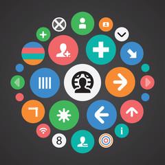 diagram icons universal set