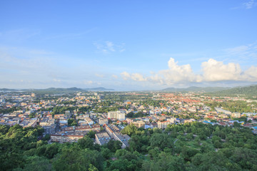 Phuket Town top view from Khao Rang hill
