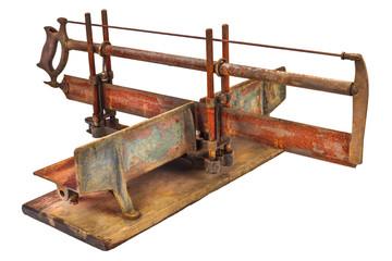 Vintage manual miter saw