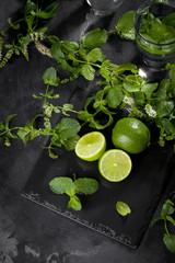 Limette mit pfefferminze
