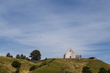 Small church on a hill
