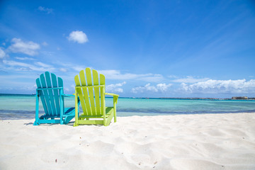 Acrylic Prints Caribbean Caribbean Beach Chair