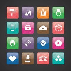 art, design icons universal set