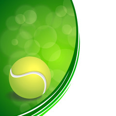 Background abstract green sport white tennis yellow ball frame illustration vector