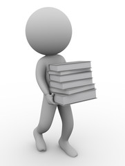 3d man and books