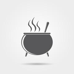 Halloween witch's cauldron icon