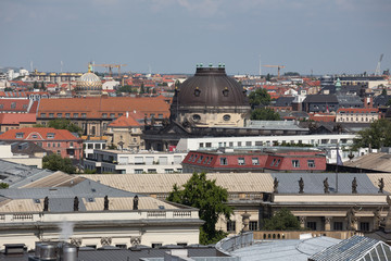 berlin germany cityscape view from above