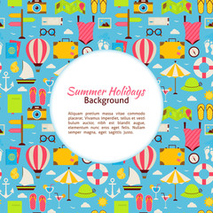Flat Vector Summer Holidays Background