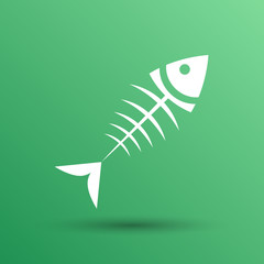 fish menu vector design template logo icon