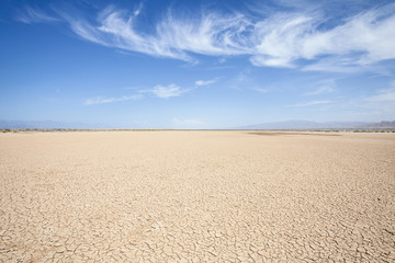 In de dag Droogte California Desert Dry Lake