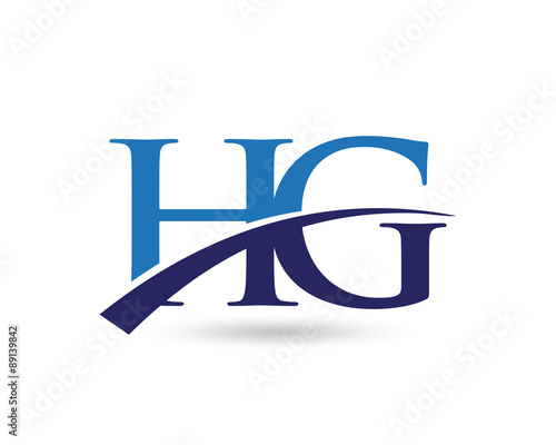 Hg Logo Letter Swoosh Stockfotos Und Lizenzfreie Vektoren Auf