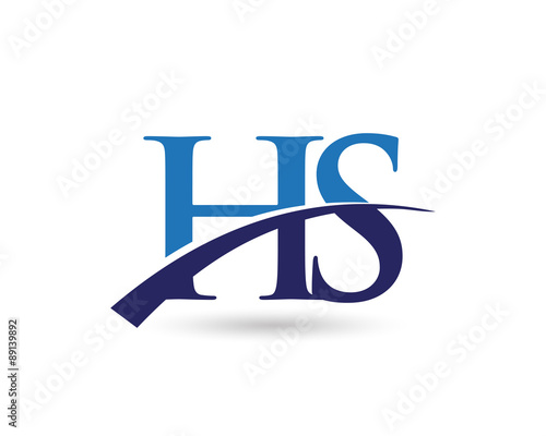 hs logo letter swoosh stock image and royalty free vector files on