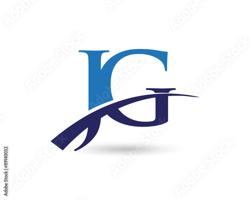 """JG Logo Letter Swoosh"""" Stock image and royalty-free vector files ..."""