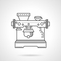 Cafe equipment line vector icon