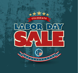 Labor day sale poster. Vector illustration. Can use for advertising and banner promotion...