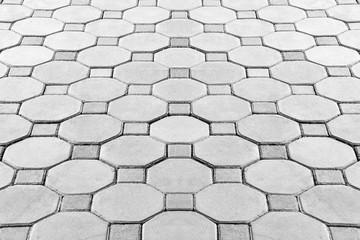 Paving Hexagon brick walkway