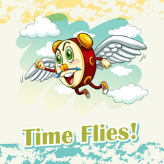 English idiom time flies