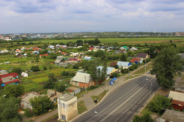 top view of city