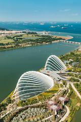 Aerial view of beautiful Singapore