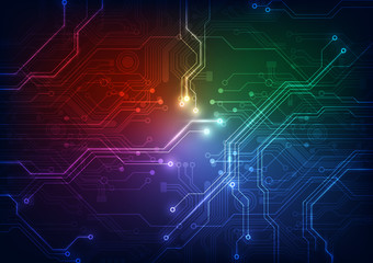 abstract circuit board technology vector background