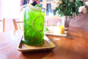 green lemon juice.