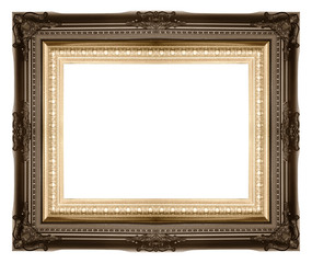 Antique Picture Frames on white isolated